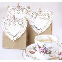 Kraft Favour Bags with Doilies and Peg DIY Set-275x275