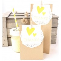 Yellow Kraft Doily DIY Favour Bags-275x275