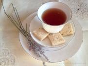 lavender shortbread and tea